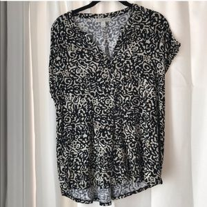 Dana Buchman Animal Print Short Sleeve Top
